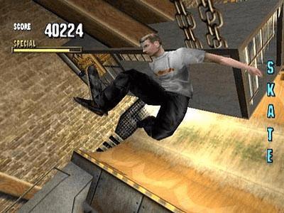 Tony Hawk's Pro Skater 1 PSX-jogo em curso!