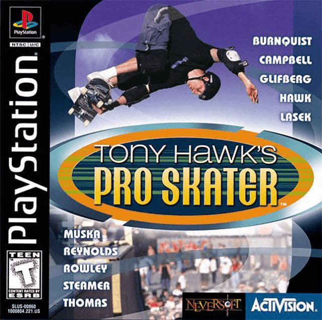 Tony Hawk's Pro Skater 1 PSX-cover game!