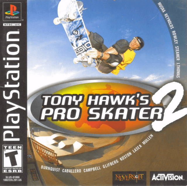 Tony Hawk's Pro Skater 2 PSX-cover game!
