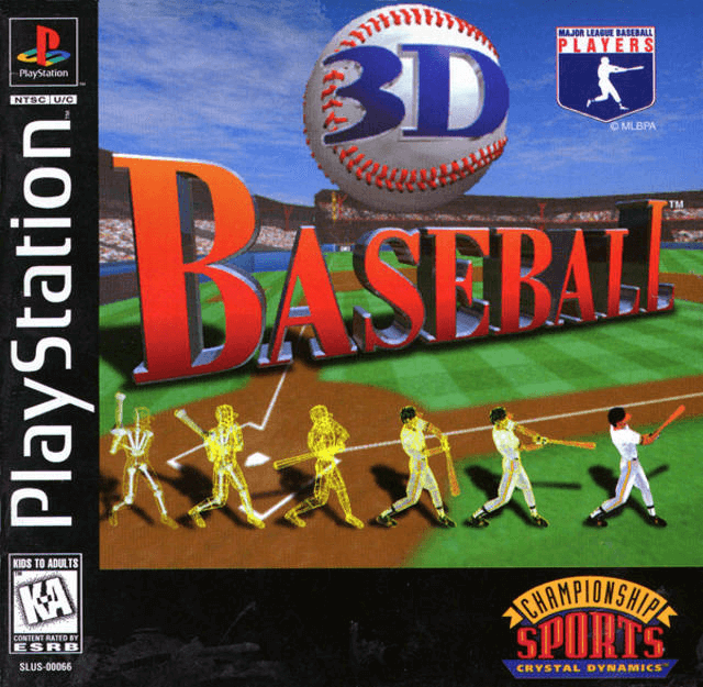 3D Baseball-cover/capa game ps1