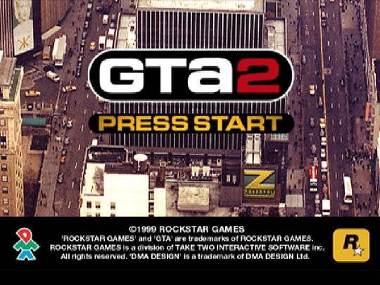 Grand Theft Auto 2 PS1-tittle game!
