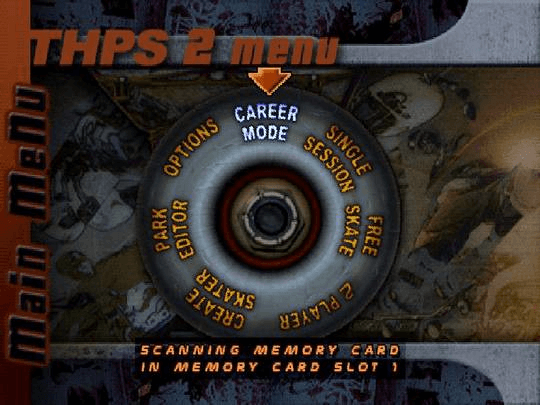 Tony Hawk's Pro Skater 2 PSX-tela de titulo/tittle game!