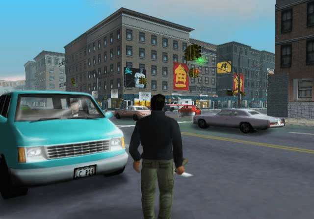 Grand Theft Auto III PS2-Claude passeando por liberty city!