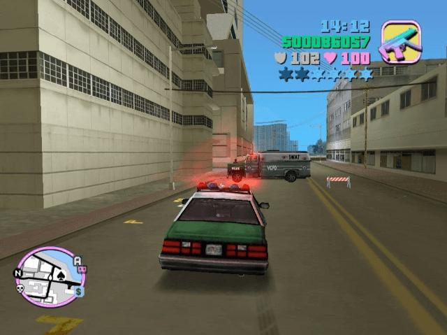 Grand Theft Auto: Vice City PS2-jogo em curso!