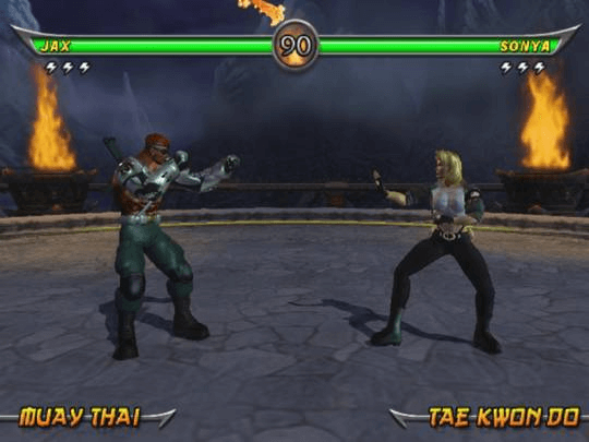Mortal Kombat: Armageddon PS2; Jax vs sonia em combate!