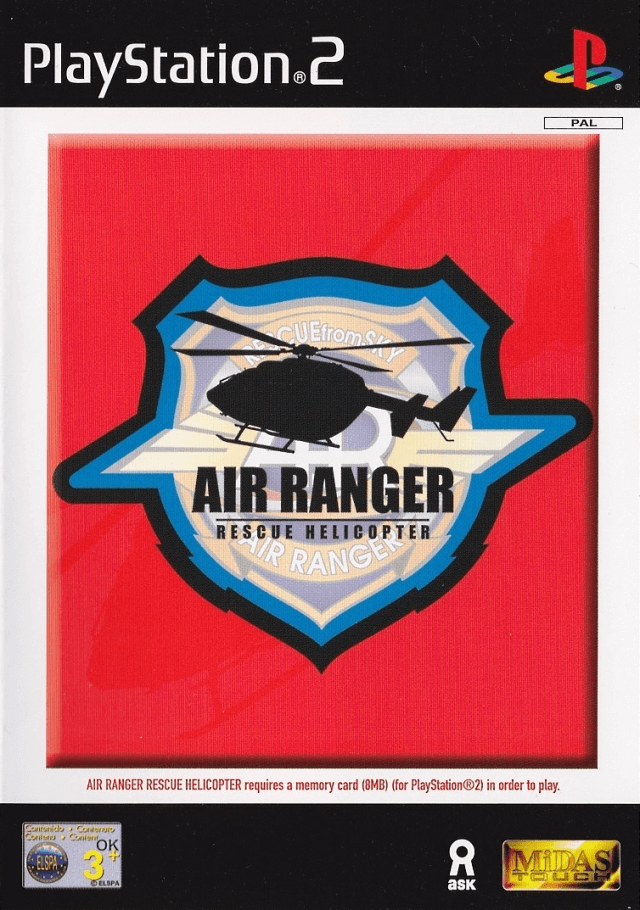 Air Ranger: Rescue Helicopter PS2, cover game!