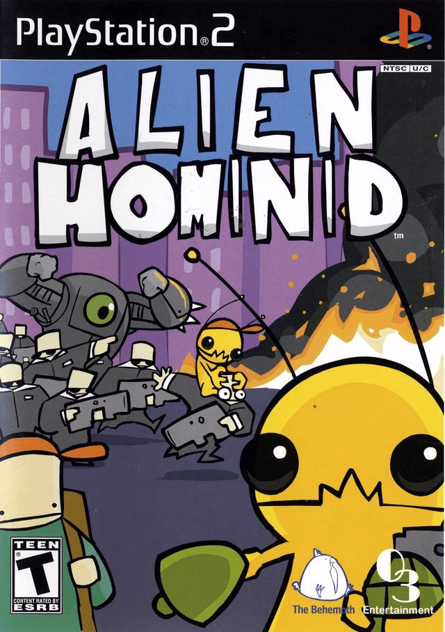 Alien Hominid -cover game PS2
