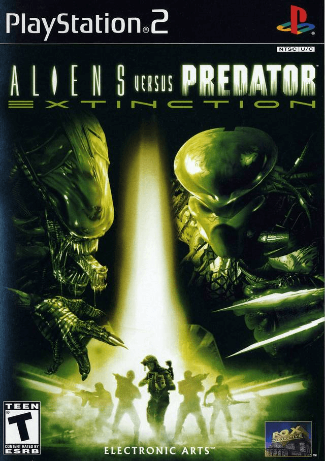 Aliens Versus Predator: Extinction, ps2 cover game!