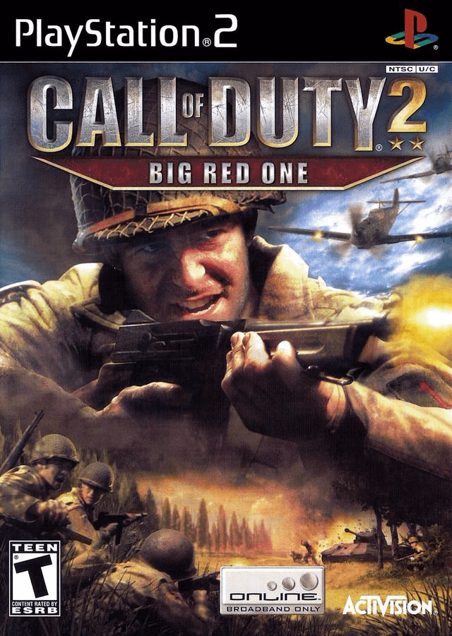 """Call of Duty 2 """"BIG RED ONE-cover/capa PS2 Game"""