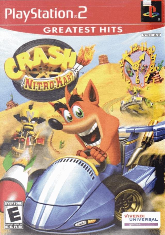 Crash Nitro Kart PS2-cover game!