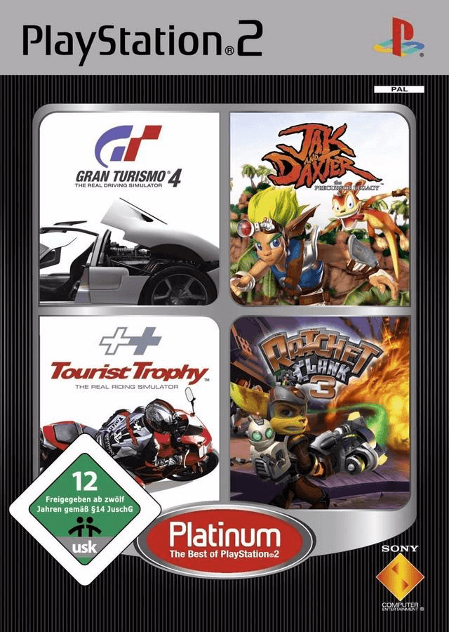 Gran Turismo 4 Jak And Daxter The Precursor Legacy Tourist Trophy Ratchet Clank 3 Sony Playstation 2