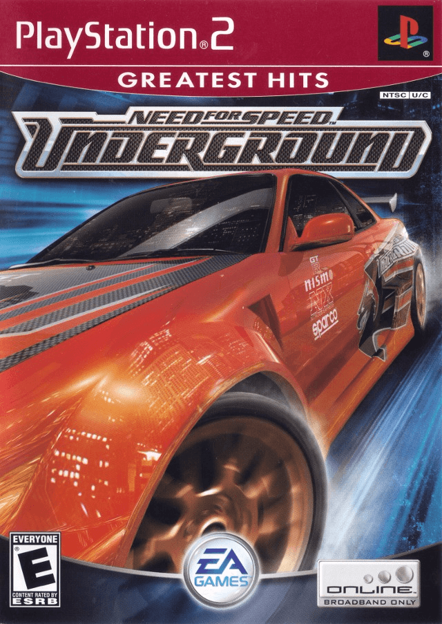 Need for Speed: Underground PS2-cover game