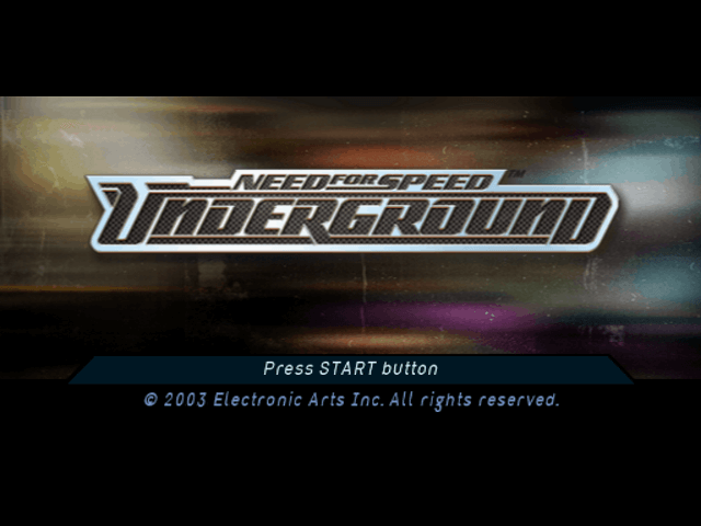 Need for Speed: Underground PS2-TITULO GAME/tittle game!