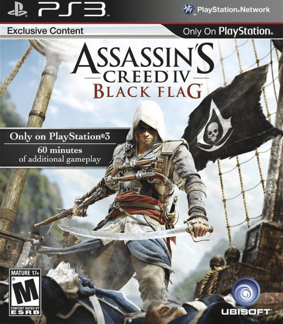 Assassin's Creed IV: Black Flag-cover game ps3