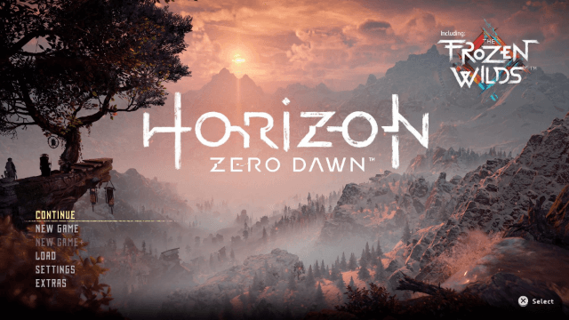 Horizon: Zero Dawn PS4/PC-tela de titulo/tittle game!
