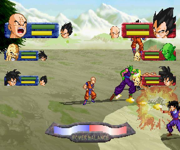 Dragon Ball Z: Idainaru Dragon Ball Densetsu-jogo em curso