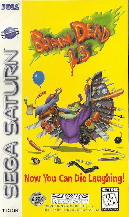 Brain Dead 13 Sega Saturno, capa do jogo!