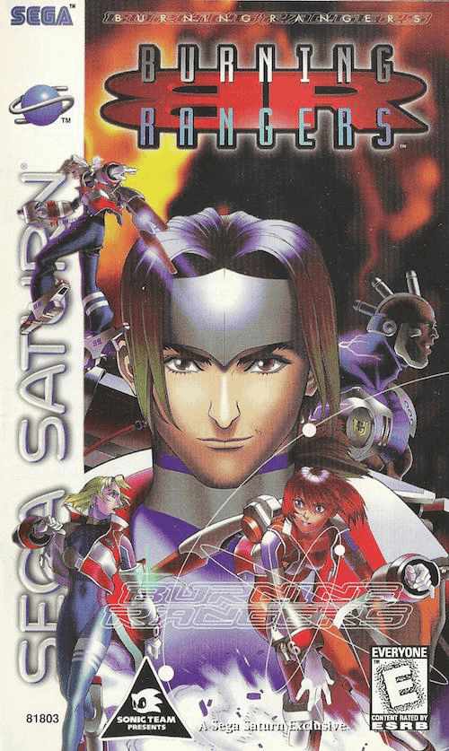 Burning Rangers Sega Saturn-cover game!