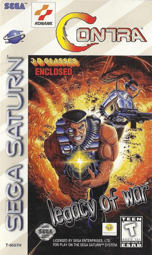 Contra: Legacy of War Sega Saturn, cover box game/ capa de jogo