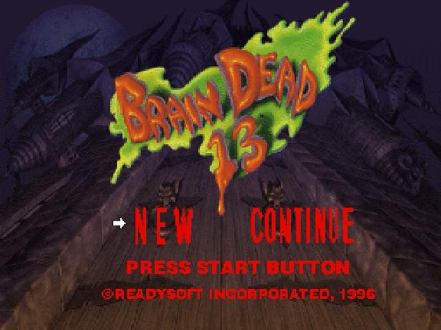 Brain Dead 13 Sega Saturno, tela de jogo!