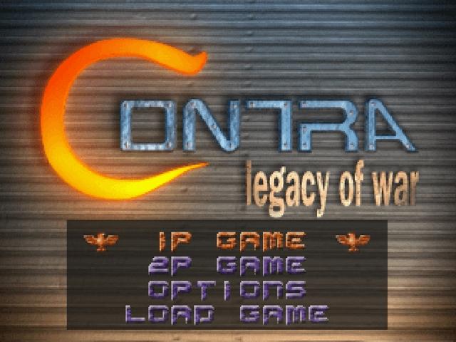 Contra: Legacy of War Sega Saturn, title game/ tela de titulo do jogo!