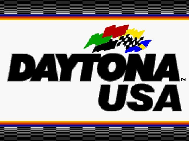 Daytona USA Sega Saturno, tela de titulo/Title game