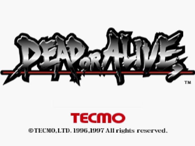 Dead or Alive-Tela de titulo Sega Saturn,