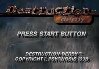 Destruction Derby-tela de titulo de jogo
