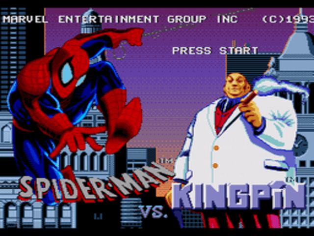 The Amazing Spider-Man vs. The Kingpin, tela de titulo!