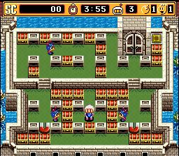 Super Bomberman 2 SNES, bomberman contra inimigos nos estagios!