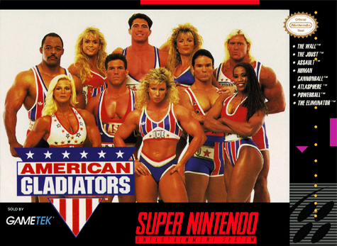 American Gladiators (Game)-snes cover/capa