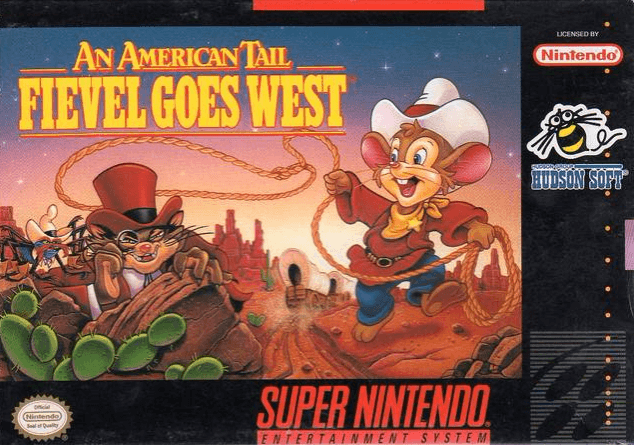 An American Tail: Fievel Goes West SNES-cover/capa game
