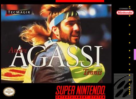 Andre Agassi Tennis TecMagik Maio 1994-snes cover-capa