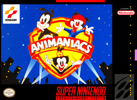 Animaniacs (VideoGame), cover game snes