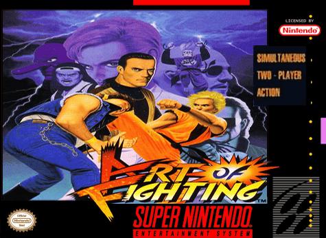 Art Of Fighting Nintendo Super Nintendo Entertainment System