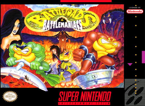 Battletoads in Battlemaniacs SNES-cover game