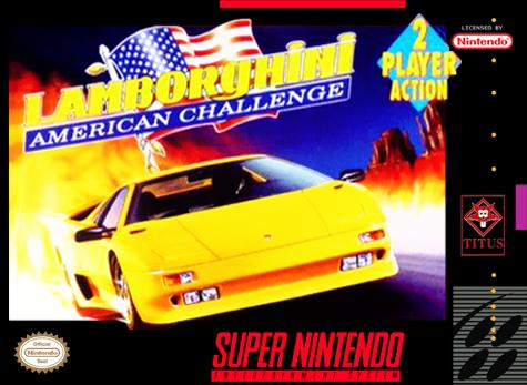 Lamborghini American Challenge SNES-cover game!