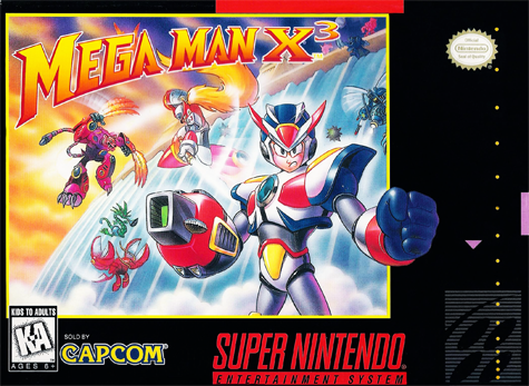 Mega Man X3 Capcom snes cover
