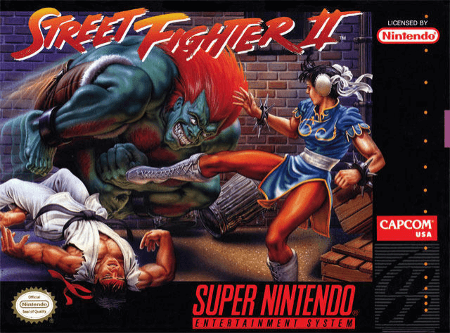 Street Fighter II SNES-cover game