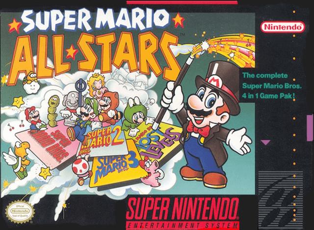 Super Mario All-Stars SNES-cover game!