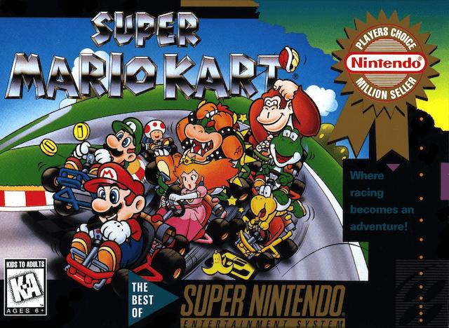 Super Mario Kart Nintendo Setembro 1992-cover game!