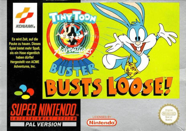 Tiny Toon Adventures Buster Busts Loose Nintendo Super Nintendo Entertainment System