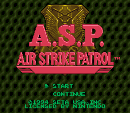 A.S.P: Air Strike Patrol-Super Nintendo
