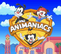 Animaniacs (VideoGame), tela de titulo snes