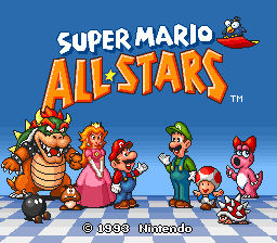 Super Mario All-Stars SNES-titlle game!