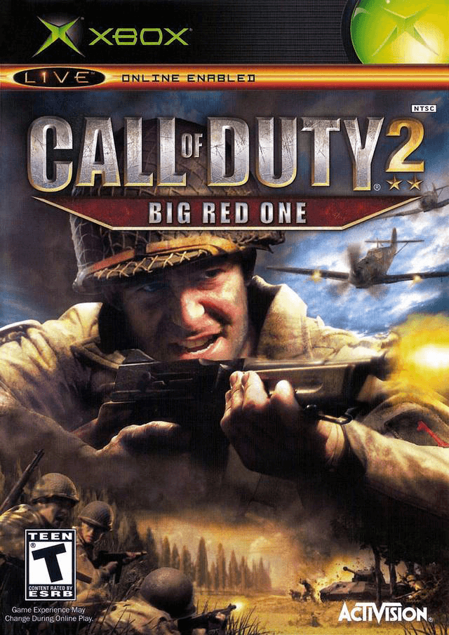 Call of Duty 2 BIG RED ONE-cover/capa Xbox Game