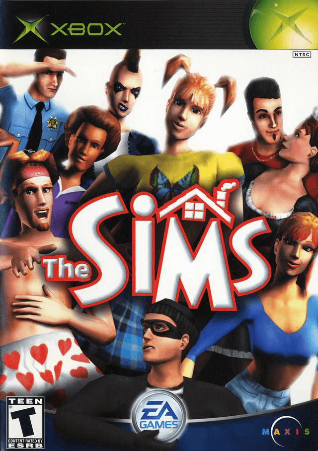 The Sims, xbox-cover game
