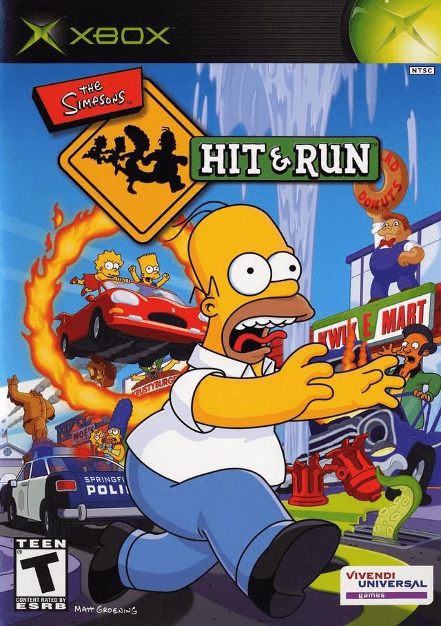 The Simpsons: Hit & Run-cover/capa Xbox Microsoft